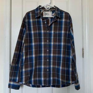 AE Plaid Poplin Button Up Shirt